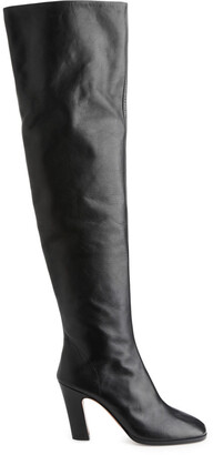 Arket Leather Over Knee Boots