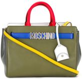 Moschino colour block tote - women - Leather - One Size