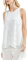 Vince Camuto Sheer Clip Dot Blouse