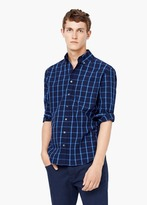 Mango Outlet Slim-Fit Check Cotton Shirt