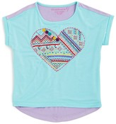 Design History Girls' Embroidered Heart Tee - Sizes 2-6X