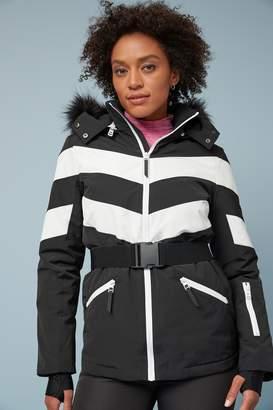 Next Womens Black Belted Ski Jacket - Black