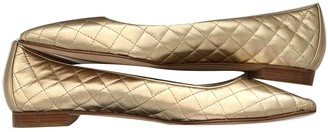 Manolo Blahnik Gold Leather Ballet flats