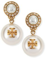 Tory Burch Selma Pearly Drop Earrings, Ivory
