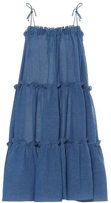 Lisa Marie Fernandez Linen-blend maxi dress