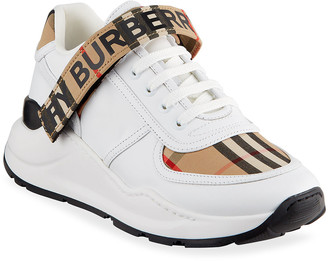 Burberry Ronnie Vintage Check Leather Logo Sneakers