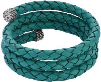 American West Sterling Genuine Leather Coil Wrap Bracelet