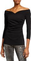 Chiara Boni Noni Off-the-Shoulder 3/4-Sleeve Top