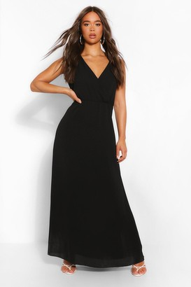 boohoo Wrap Front Maxi Dress
