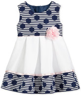 Bonnie Baby Dots & Stripes Jacquard Dress, Baby Girls (0-24 months)