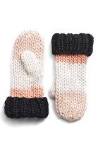 Kate Spade Women's Hand Knit Colorblock Mittens