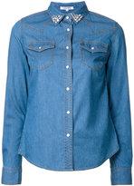 GUILD PRIME stoned collar denim shirt - women - Cotton/Nylon/Cupro - 34