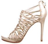 Diane von Furstenberg Metallic Caged Sandals