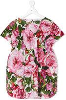 Dolce & Gabbana floral print dress - kids - Cotton - 2 yrs