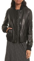 Vince Women's Leather Bomber Jacket