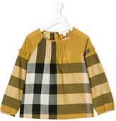 Burberry check ruffle blouse
