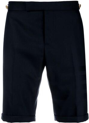 Thom Browne Sateen 4-Bar Skinny-Fit Short