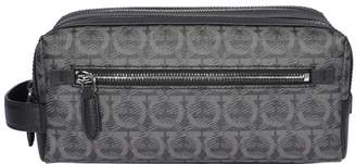 Salvatore Ferragamo Gancini Printed Toiletry Bag