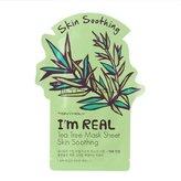 Tony Moly Tonymoly I'm Real Skin Care Facial Mask Sheet Package (Tea Tree - Skin Soothing 10 Sheets)