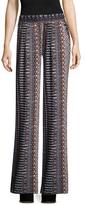 BCBGeneration Printed Wide Cuffs Pants