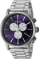 Nixon Men's 'Sentry Chrono, ' Quartz Stainless Steel Automatic Watch, Color:Silver-Toned (Model: A386-230-00)