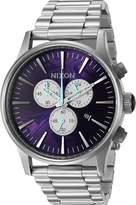 Nixon Men's 'Sentry Chrono, ' Quartz Stainless Steel Watch, Color:Silver-Toned (Model: A386-230-00)