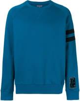 Lanvin distressed stripe sweatshirt