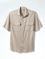 Banana Republic Heritage Camden-Fit Micro-Twill Short-Sleeve Shirt