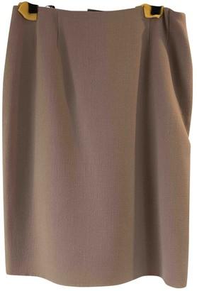 Bill Blass Khaki Wool Skirt for Women