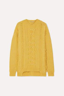 Stella McCartney Oversized Cable-knit Alpaca-blend Sweater - Yellow