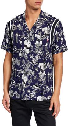 Scotch & Soda Men's Popeye's 90th Anniversary Brutus-Print Hawaiian Shirt