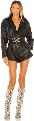 L'Academie Nova Leather Romper