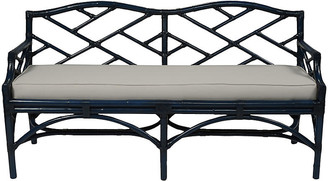 David Francis Furniture Chippendale Bench - Navy