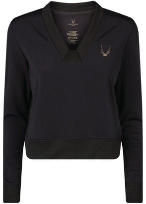 Lucas Hugh Carbon Crop Sweatshirt
