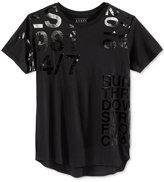 GUESS Men's Military Longline Graphic-Print T-Shirt