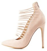 Charlotte Russe Strappy Pointed Toe Pumps