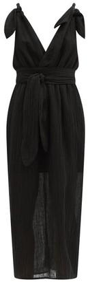 Mara Hoffman Calypso Organic-linen Blend Cocoon Dress - Black