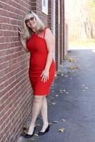 Joseph Ribkoff Red Slim-Fit Dress