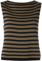 Vince striped top - women - Cotton/Polyamide - S