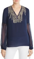 Elie Tahari Clementine Embellished Blouse - 100% Exclusive