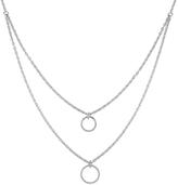Rina Limor Fine Jewelry Women's Silver & 0.10 Total Ct. Diamond Double Pendant Necklace