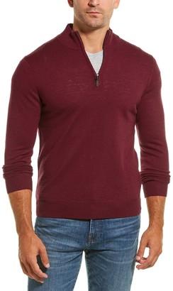 Qi Wool 1/4-Zip Mock Sweater