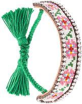 Shourouk 'Flower' tassel bracelet