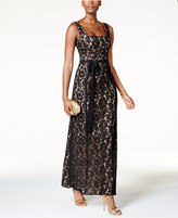 Fame and Partners Lace Square-Back Gown