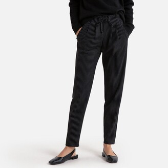 Jacqueline De Yong Striped High-Waist Trousers