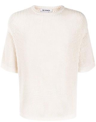 Sunnei Open Knit Short Sleeve Top