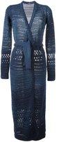 Balmain braided detail cardicoat - women - Cotton/Viscose - 38