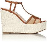 Sergio Rossi Women's Puzzle Wedge Espadrille Sandals-BEIGE