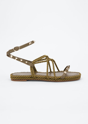 Valentino 5mm Flatform Rope Gladiator Sandals