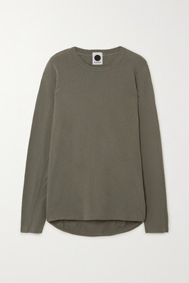 Bassike Organic Cotton-jersey Top - Army green